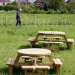 The picnic benches are looking good