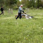 Spraying trees, mowing pathways...